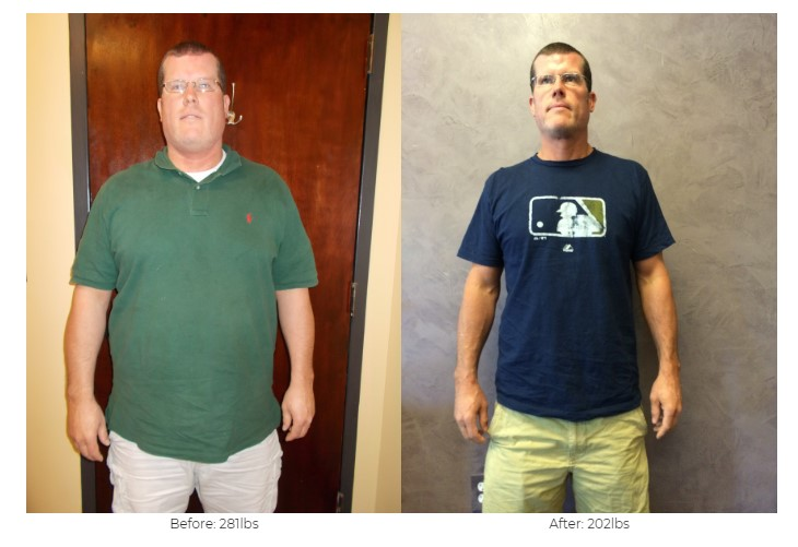 Michael Johnson lost 79 lbs!